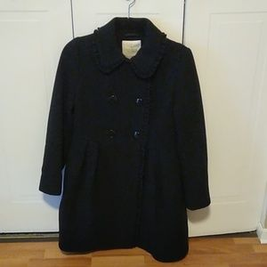 Kate Spade Wool Pea Coat with Bow Detail